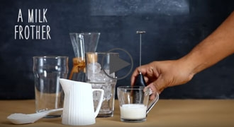 Make café-style cold coffee latte in your own kitchen
